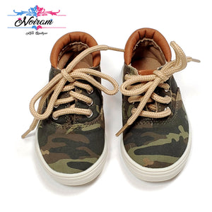 Childrens Place Camo Boys Sneakers Size 4 Used View 2