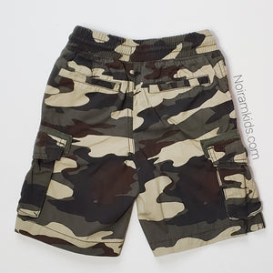 Crazy 8 Boys Camo Cargo Shorts 4T Used View 2
