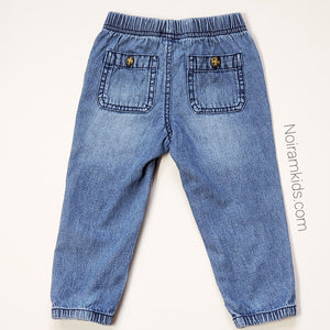 Carters Baby Boy Denim Joggers 18M Used View 2