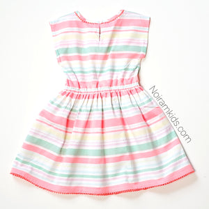 Carters Girls Colorful Striped Dress Size 5 Used View 3