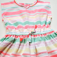 Load image into Gallery viewer, Carters Girls Colorful Striped Dress Size 5 Used View 2