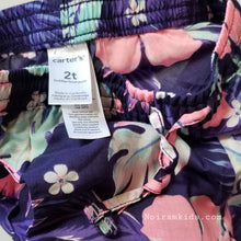 Load image into Gallery viewer, NWT Carters Girl Floral Jogger Pants 2T View 3