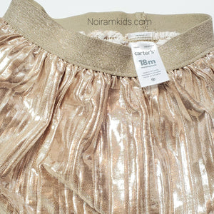 Carters Gold Girls Skirt Size 18M Used View 2