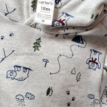 Load image into Gallery viewer, Carters Baby Boys Grey Holiday Hoodie 18M Used View 3