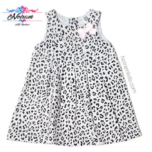 Load image into Gallery viewer, Carters Grey Leopard Print Girls Dress 12M Used View 1