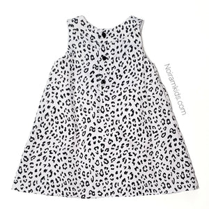 Carters Grey Leopard Print Girls Dress 12M Used View 2