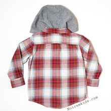 Load image into Gallery viewer, Carter's Hooded Flannel Shirt Toddler Boys Used View 2