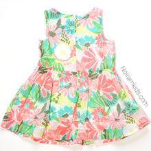 Load image into Gallery viewer, Cat Jack Pink Blue Girls Floral Dress 12M Used View 3