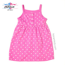 Load image into Gallery viewer, Carters Pink White Polka Dot Girls Dress 12M NWOT View 1