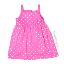 Load image into Gallery viewer, Carters Pink White Polka Dot Girls Dress 12M NWOT View 2