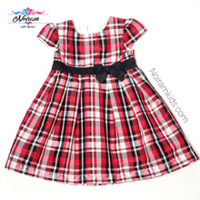 Load image into Gallery viewer, Carters Baby Girls Plaid Special Occasion Dress Used View 1