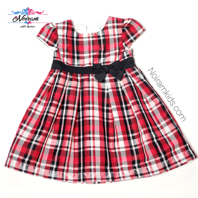 Carters Baby Girls Plaid Special Occasion Dress Used View 1