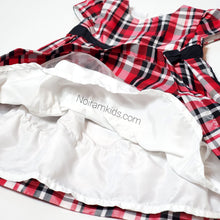 Load image into Gallery viewer, Carters Baby Girls Plaid Special Occasion Dress Used View 3
