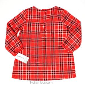 Carters Red Plaid Girls Shirt 2T NWT Used View 3