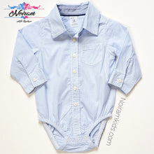 Load image into Gallery viewer, Carters Striped Button Down Bodysuit Baby Boys 12M View 1