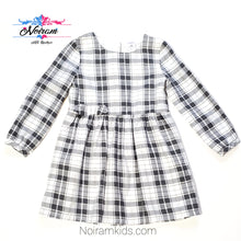 Load image into Gallery viewer, Carters White Grey Plaid Girls Dress 3T Used View 1