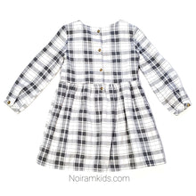 Load image into Gallery viewer, Carters White Grey Plaid Girls Dress 3T Used View 3