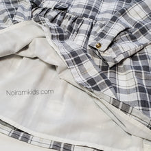 Load image into Gallery viewer, Carters White Grey Plaid Girls Dress 3T Used View 4
