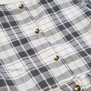Carters White Grey Plaid Girls Dress 3T Used View 5