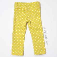 Load image into Gallery viewer, Carters Girls Yellow Polka Dot Jeans 3T Used View 2