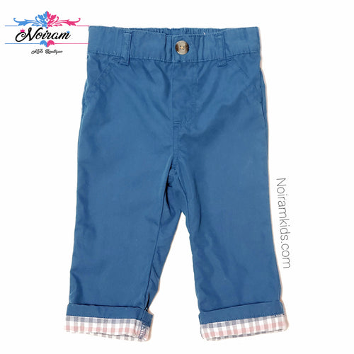 Cat Jack Blue Cuffed Baby Boy Pants Used View 1