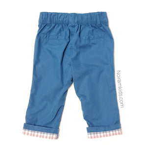 Cat Jack Blue Cuffed Baby Boy Pants Used View 2