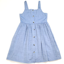 Load image into Gallery viewer, Cat Jack Girls Blue Plaid Dress Size 7 NWT View 1
