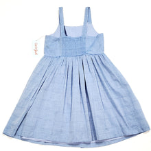 Load image into Gallery viewer, Cat Jack Girls Blue Plaid Dress Size 7 NWT View 3