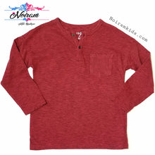 Load image into Gallery viewer, Cat Jack Boys Red Striped Henley Shirt 3T Used