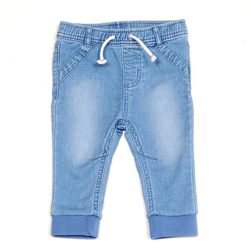Cat Jack Boys Denim Joggers 6M Used View 1