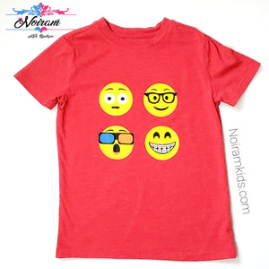 Cat Jack Emoji Shirt Red Small Used