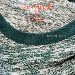 Cat Jack Toddler Boys Green French Terry Shirt Used View 3