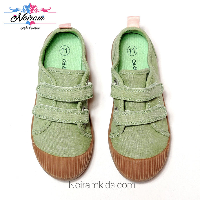 Cat Jack Green Velcro Shoes Size 11 Used View 1