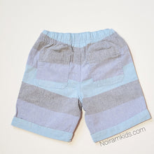 Load image into Gallery viewer, Cat Jack Boys Blue Grey Striped Shorts 4T NWT View 2