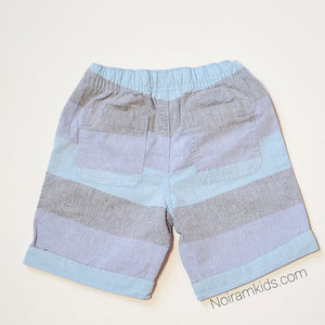Cat Jack Boys Blue Grey Striped Shorts 4T NWT View 2