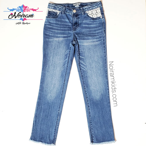 Cat Jack Girls Lace Pocket Skinny Jeans Used View 1