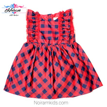 Load image into Gallery viewer, Cat Jack Red Blue Plaid Girls Dress 18M NWOT View 1