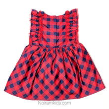 Load image into Gallery viewer, Cat Jack Red Blue Plaid Girls Dress 18M NWOT View 2