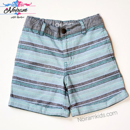 Cherokee Boys Striped Cuffed Shorts 4T Used