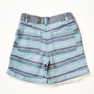 Cherokee Boys Striped Cuffed Shorts 4T Used View 2