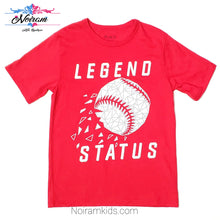 Load image into Gallery viewer, Childrens Place Red Baseball Boys Shirt Used View 1