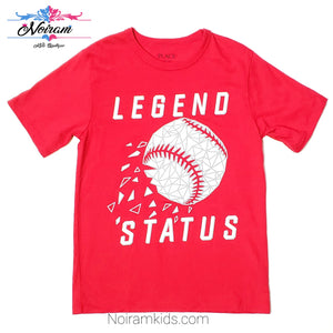 Childrens Place Red Baseball Boys Shirt Used View 1
