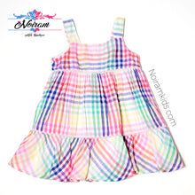 Load image into Gallery viewer, Baby Gap Colorful Plaid Girls Dress Used View 1