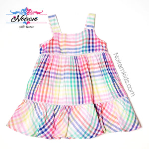 Baby Gap Colorful Plaid Girls Dress Used View 1