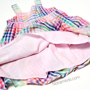 Baby Gap Colorful Plaid Girls Dress Used View 2