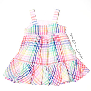 Baby Gap Colorful Plaid Girls Dress Used View 3