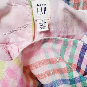 Baby Gap Colorful Plaid Girls Dress Used View 4