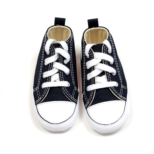Converse Baby Black White Crib Shoes Size 4 View 1