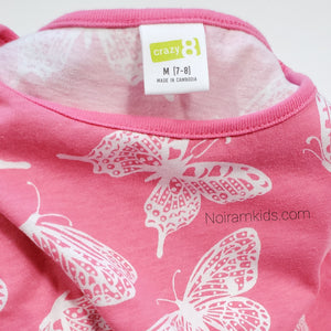 Crazy 8 Girls Pink Butterfly Dress Used View 3