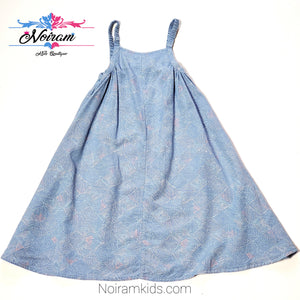 Old Navy Patterned Chambray Girls Dress 3T Used View 1